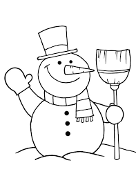 free printable snowman coloring pages kids