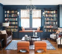 navy blue living room ideas living room transitional with built in
