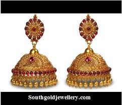 antique gold jhumka earrings design antique chandbali archives page 4 of 5