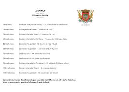 horaire ouverture bureau de vote bureaux de vote liste site officiel de la ville le raincy le