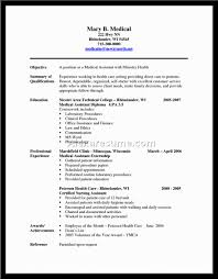 Sample Resume Certified Nursing Assistant Resume For Medical Assistant Externship Resume For Your Job