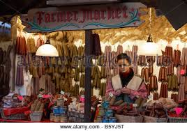 the german market at hyde park winter uk stock
