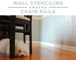 Chair Rail Ideas For Dining Room Wall Stenciling Around Chair Rails Stencil Stories