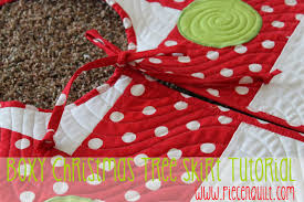piece n quilt boxy christmas tree skirt tutorial