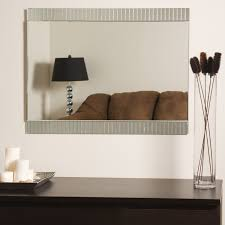 Frameless Bathroom Mirror Dazzling Art Frameless Wall Mirror U2013 Home Designing