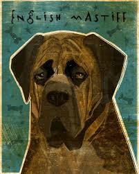 english mastiff wall art brindle dog art by john w golden