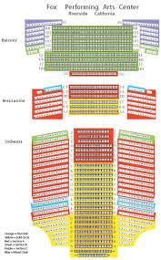 fox theater floor plan fox theater seating chart riverside ca