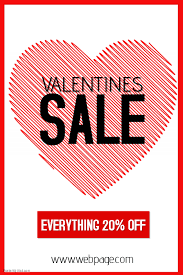 valentines sale valentines day special sale portrait poster template postermywall