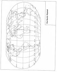 Blank Continent Map World History I Map Page