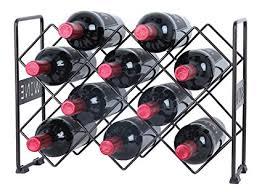 pattern for wine bottle holder amazon com finnhomy 10 bottle wine rack with wine pattern wine