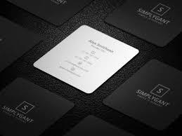 Business Cards Mini Mini Square Business Card Psd Templates Design Graphic Design