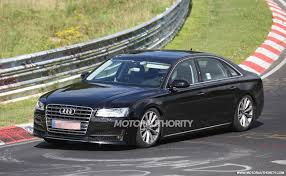 2018 audi a8 hits the track during testing gtspirit