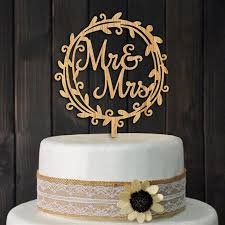mr mrs cake topper wooden floral wreath mr and mrs cake topper decoration gaia spot
