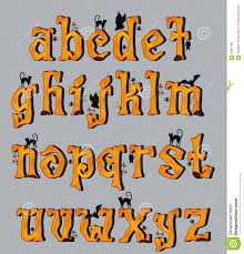 halloween greeting cards magic font stock vector image 59203512
