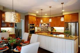Islands For The Kitchen Kitchen Copper Pendant Lights Above The Kitchen Island For A
