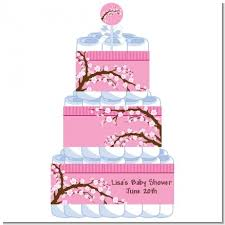 3 tier cherry blossom baby shower diaper cake cherry blossom
