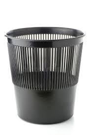 poubelle bureau poubelle de déchets en plastique de bureau image stock