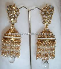 gold jhumka earrings gold big jhumka dangler earrings buy jhumka pearl earring indian
