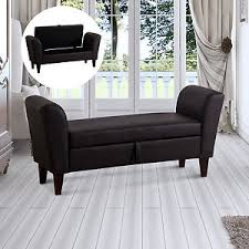 pu leather storage bed footstool bed end sofa window seat bench