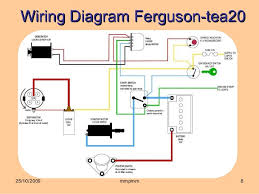 vehicle electricle system within ferguson tea 20 wiring diagram