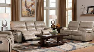 Beige Leather Living Room Set Manual Power Reclining Living Room Sets With Sofas