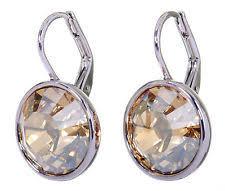 sheena pierced earrings swarovski sheena golden shadow pierced earrings 1144252 ebay