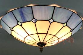 stained glass ceiling light fixtures glass flush mount light inch stained glass ceiling lights blue and