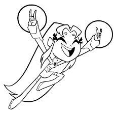 starfire teen titans coloring comic books comics
