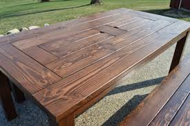 building a picnic table without benches wooden furniture plans