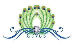 design free logo peacock feathers logo template
