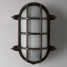 buy davey lighting bulkhead weathered wall light brass lewis