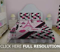 girls daybed bedding sets paris bedspread queen home beds decoration