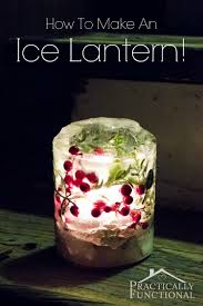 how to make ice lanterns for under 5 ice luminarias front