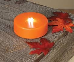 led pumpkin tea lights check out the deal on flashing strobe pumpkin tea light with 3 led s