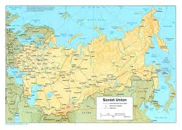 map of ussr large political map of the ussr with relief railroads and major