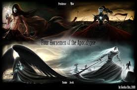 the four horsemen of the apocalypse favourites by hatemachine03 on