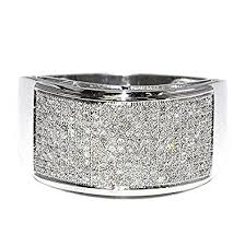 white gold wedding bands for men diamond wedding band mens 2 3cttw 12mm wide rounded pave set