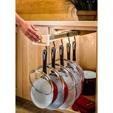 Pots And Pans Cabinet Rack Glideware Pull Out Cabinet Organizer For Pots U0026 Pans Walmart Com