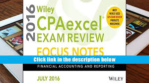 download pdf wiley cpaexcel exam review july 2016 focus notes
