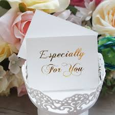 online shop 50pcs mini especially for you card gold simple design
