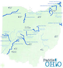 Map Of Northwest Ohio by Paddle Ohio Maps