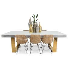 modern dining table in recycled wood and lucite modshop cody dining table with brass legs