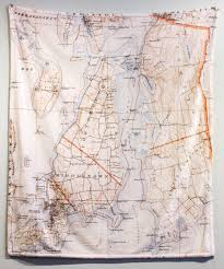 Furry Map Map Blanket Super Soft With A Vintage Map Graphic Of Newport Ri