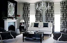 White And Black Damask Curtains Black And White Damask Curtains In Living Room With Black And