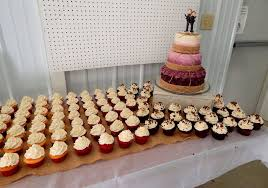 wedding cake and cupcakes burgundy ombre rustic wedding cake cakecentral