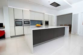 Kitchen Designs Toronto by Waterfall Island Kitchen Example Of A Trendy Kitchen Design In