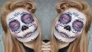 sugar skull halloween makeup tutorial youtube