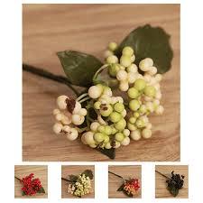 dried artificial flowers home decor home furniture diy mini christmas fruit berry artificial flower bouquet home decoration diy