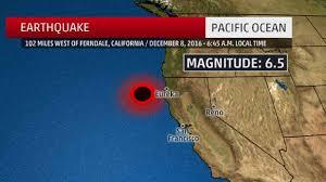 Eureka California Map Strong Earthquake Strikes Off Northern California Coast The