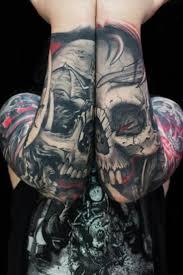 forearm skull tattoos sick skull forearm tattoo tattoos ink insane amazing awesome